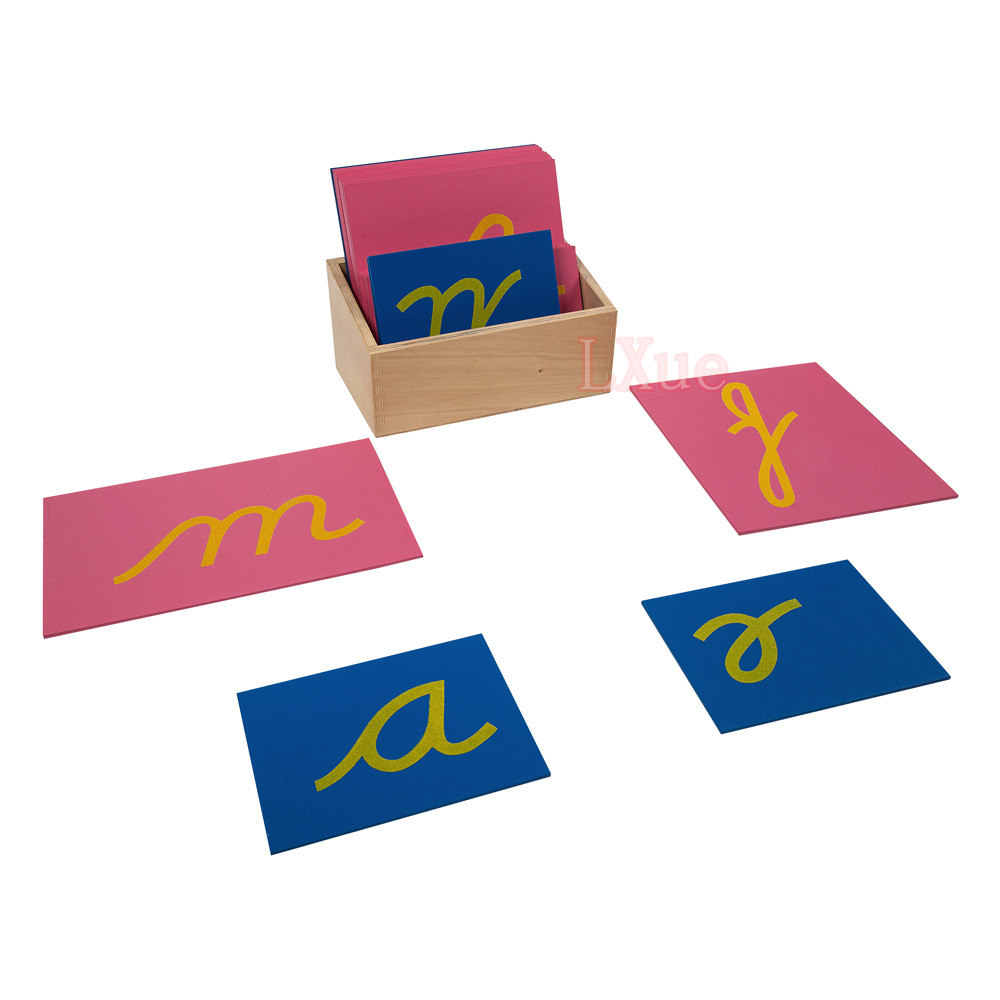 Sandpaper Letters with Box (Cursive)